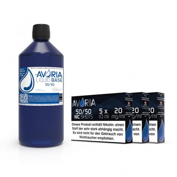 Avoria Basen Bundle 1 Liter 50/50 mit Nikotinshots für bis zu 3mg Nikotin bei LiquidExpress24