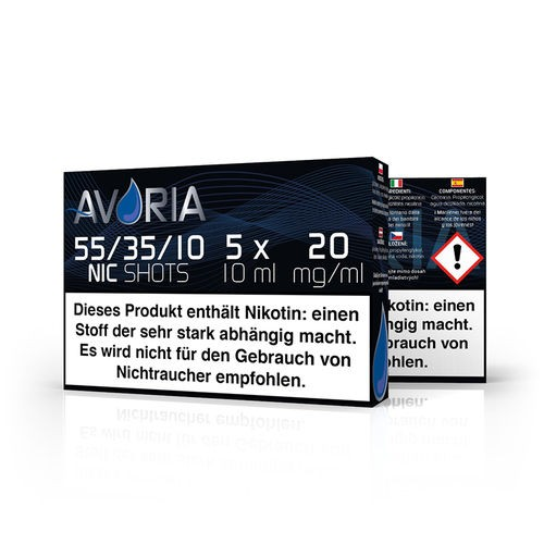 Avoria Nikotinshot Base 55/35/10 (5x10ml) 20mg Nikotin