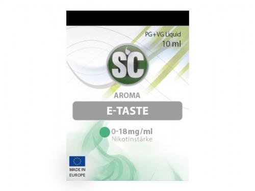Liquid für E-Zigaretten von SC E Taste