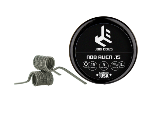 JBOi Alien Coils fertig gewickelt mit 0,15 Ohm N80