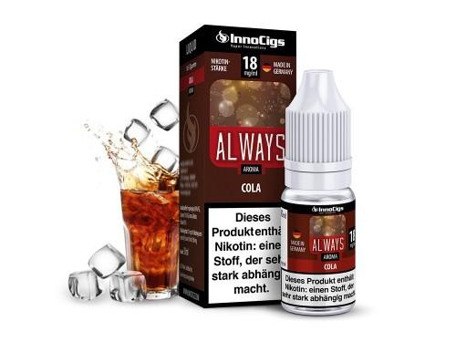 Innocigs e Zigaretten Liquid Always Cola