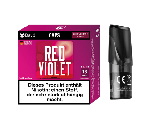Easy 3 Caps Red Violet