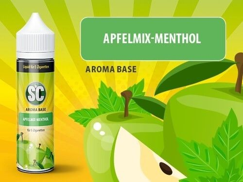 shake and vape Liquids mit 50ml Sc vApe Base mit Apfelmix-Menthol aroma