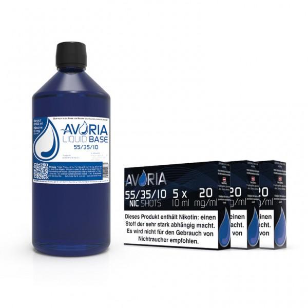 Avoria Basen Bundle 1 Liter mit Nikotinshots für bis zu 3mg Nikotin bei LiquidExpress24