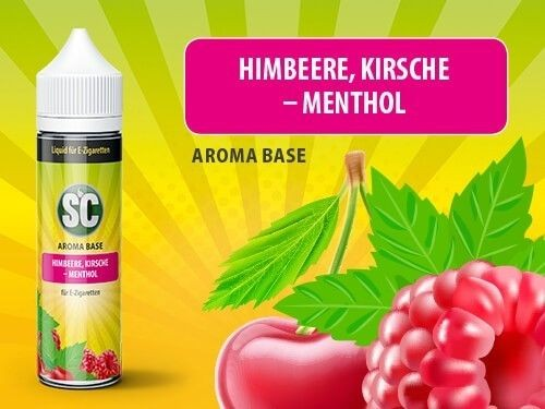 shake and vape Liquids mit 50ml Sc vApe Base mit Himbeere Kirsche-Menthol aroma